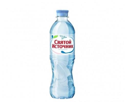 Вода питьевая Святой Источник негазированная 500мл ПЭТ